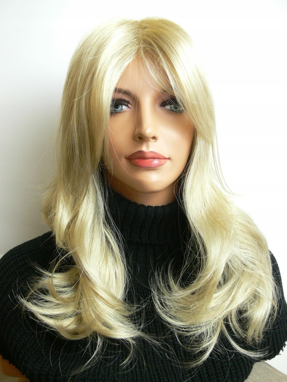 Peruka Jasny Blond Dłuższa Modna Fryzura
